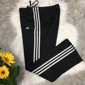 ❤️ adidas black with 3 white stripes pants